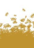 κορώνες ανασκόπησης Στοκ φωτογραφία με δικαίωμα ελεύθερης χρήσης