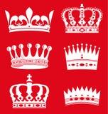 κορώνες βασιλικές Στοκ εικόνες με δικαίωμα ελεύθερης χρήσης
