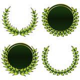 κορώνες πράσινες ελεύθερη απεικόνιση δικαιώματος