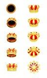 κορώνες χρυσές Στοκ φωτογραφία με δικαίωμα ελεύθερης χρήσης