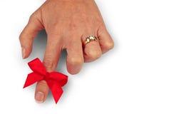 κορδέλλα δάχτυλων Στοκ Εικόνες
