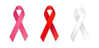 κορδέλλες καρκίνου συνειδητοποίησης Στοκ Εικόνα