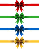 Κορδέλλες Χριστουγέννων που τίθενται Στοκ φωτογραφία με δικαίωμα ελεύθερης χρήσης