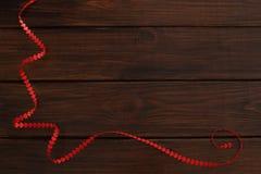 Κορδέλλα καρδιών ημέρας βαλεντίνων Στοκ Φωτογραφίες