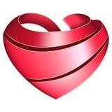 Κορδέλλα που στρίβεται με μορφή της καρδιάς Στοκ εικόνα με δικαίωμα ελεύθερης χρήσης