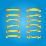 κορδέλλα-χρυσό σύνολο Στοκ φωτογραφία με δικαίωμα ελεύθερης χρήσης