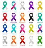 Κορδέλλες καρκίνου διάνυσμα Απεικόνιση αποθεμάτων