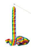 Κορδέλλες ουράνιων τόξων με τη λαβή γυμναστικής | Φωτογραφία αθλητικού αντικειμένου | απομονώστε Στοκ φωτογραφία με δικαίωμα ελεύθερης χρήσης