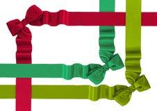Κορδέλλες σατέν με τα τόξα Στοκ εικόνες με δικαίωμα ελεύθερης χρήσης