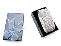 κοσμήματα δώρων κιβωτίων Στοκ φωτογραφία με δικαίωμα ελεύθερης χρήσης