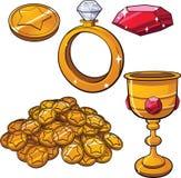 Κοσμήματα θησαυρών διανυσματική απεικόνιση