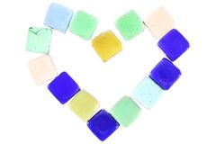 Κοσμήματα καρδιών ή πολύτιμοι λίθοι καθρεφτών Στοκ εικόνα με δικαίωμα ελεύθερης χρήσης