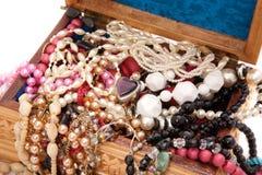 κοσμήματα κιβωτίων ξύλινα Στοκ Φωτογραφία