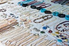 Κοσμήματα των φυσικών μαργαριταριών Στοκ φωτογραφία με δικαίωμα ελεύθερης χρήσης