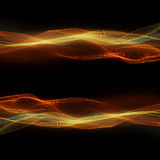 Κοσμικά κύματα κίτρινα απεικόνιση αποθεμάτων