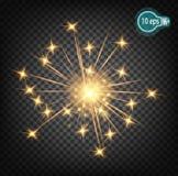 Κοσμική πυράκτωση, αστέρι Χριστουγέννων Στο απόμακρο διάστημα Σχέδιο έννοιας για τα νεφελώματα αστεριών σε ένα διαφανές υπόβαθρο  Στοκ Εικόνες