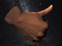 κοσμικοί αντίχειρες επάν& Στοκ φωτογραφία με δικαίωμα ελεύθερης χρήσης