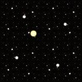 Κοσμικό υπόβαθρο με τον ήλιο και τα αστέρια Στοκ φωτογραφία με δικαίωμα ελεύθερης χρήσης