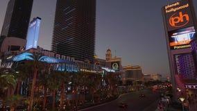 Κοσμοπολίτικοι ξενοδοχείο και πλανήτης Hollywood στο Las Vegas Strip - ΗΠΑ 2017 απόθεμα βίντεο