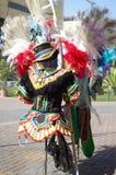 Κοστούμια καρναβαλιού που χρησιμοποιούνται από τους χορευτές samba Στοκ φωτογραφία με δικαίωμα ελεύθερης χρήσης