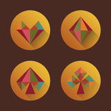 Κοστούμια καρτών εικονιδίων στο ύφος ενός επίπεδου σχεδίου Στοκ Εικόνες