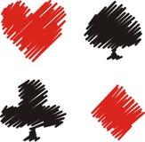 κοστούμια καρτών Στοκ φωτογραφία με δικαίωμα ελεύθερης χρήσης