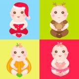 κοστούμια μωρών διαφορε&tau Στοκ φωτογραφία με δικαίωμα ελεύθερης χρήσης
