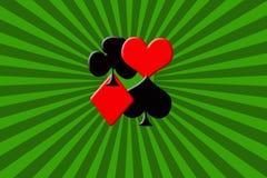 Κοστούμια των καρτών πόκερ στοκ εικόνες
