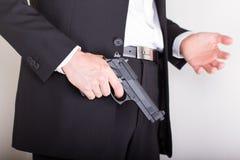κοστούμι ατόμων επιχειρησιακών πυροβόλων όπλων στοκ εικόνες