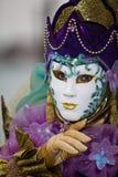 κοστούμι Βενετία καρναβαλιού Στοκ Φωτογραφίες