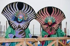 κοστούμι Βενετία καρναβ&al Στοκ Εικόνα