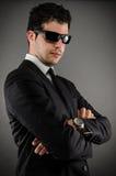 Κοστούμι και γυαλιά ηλίου Στοκ Εικόνες