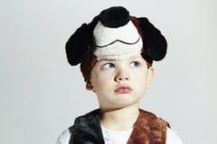 κοστούμι καρναβαλιού α&gamma Σκυλί μεταμφίεση Παιδί Στοκ φωτογραφία με δικαίωμα ελεύθερης χρήσης