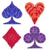Κοστούμι καρτών από τα λουλούδια Στοκ εικόνα με δικαίωμα ελεύθερης χρήσης