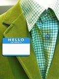 κοστούμι ονόματος διακριτικών Στοκ φωτογραφία με δικαίωμα ελεύθερης χρήσης