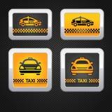κοτλέ καθορισμένο ταξί αμαξιών κουμπιών ανασκόπησης διανυσματική απεικόνιση