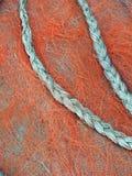 Κοτσίδα αχύρου στο κόκκινο υπόβαθρο στοκ εικόνες