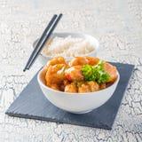 Κοτόπουλο και ρύζι λεμονιών στοκ εικόνες