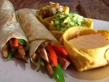 κοτόπουλο μεξικανός burritos Στοκ Εικόνα