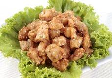 κοτόπουλο που τηγανίζεται Στοκ Εικόνα