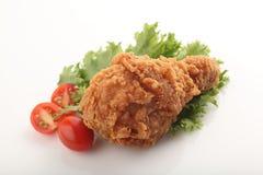 κοτόπουλο που τηγανίζε&