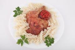 κοτόπουλο που τηγανίζε& Στοκ Εικόνα