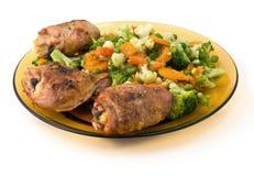 κοτόπουλο που τηγανίζε& Στοκ εικόνα με δικαίωμα ελεύθερης χρήσης