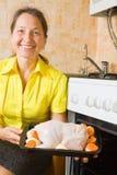 κοτόπουλο που ψήνει τη γ& στοκ εικόνες με δικαίωμα ελεύθερης χρήσης