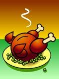 κοτόπουλο που ψήνεται σ Στοκ Εικόνα