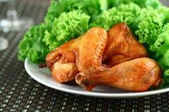 κοτόπουλο που ψήνεται σ Στοκ εικόνα με δικαίωμα ελεύθερης χρήσης