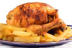 κοτόπουλο που ψήνεται Στοκ εικόνα με δικαίωμα ελεύθερης χρήσης