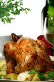 κοτόπουλο που ψήνεται Στοκ Εικόνες