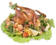 κοτόπουλο που ψήνεται Στοκ Φωτογραφίες