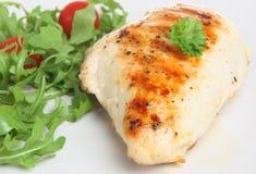 κοτόπουλο στηθών που ψήν&epsi Στοκ Εικόνα